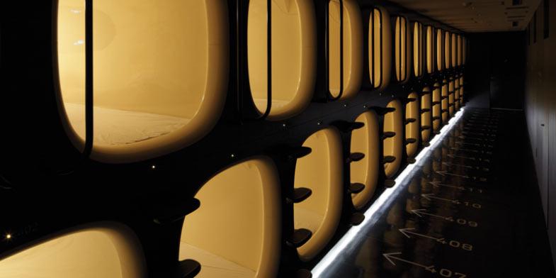 capsule hotel in Tokyo