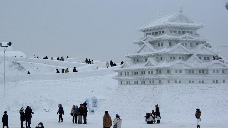 Sapporo sneeuwfestival in Japan