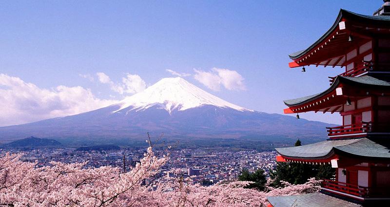 Mount Fuji de vulkaan nabij Tokyo Japan