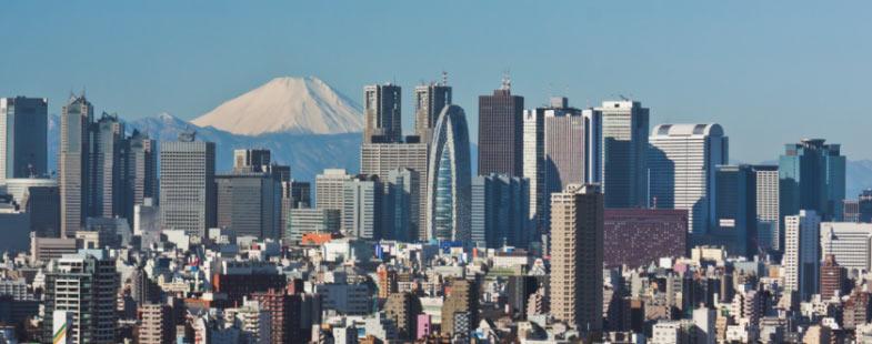 Tokyo mt Fuiji achtergrond