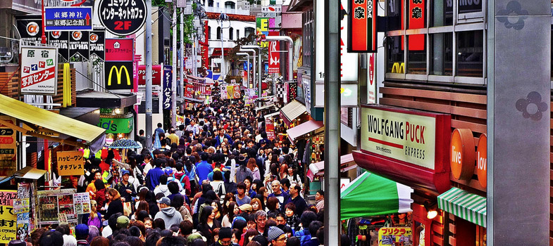 Takeshita Dori winkelstraat