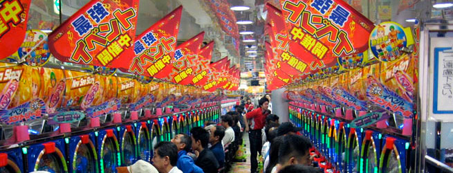 Pachinko gokkasten Japan