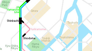 Tsukishima plattegrond