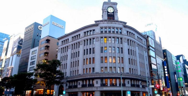 De wijk Ginza in Tokyo