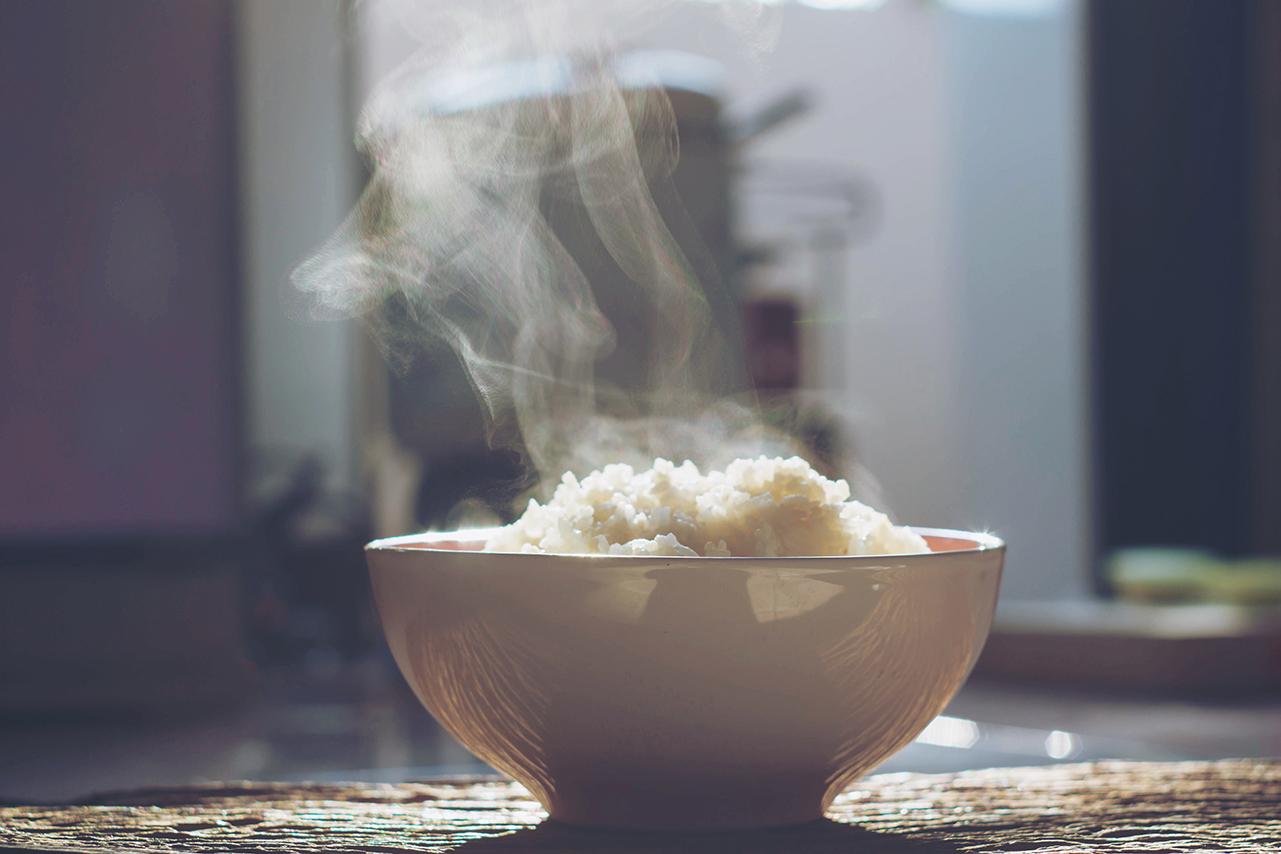 Gestoomde rijst kom (gohan)