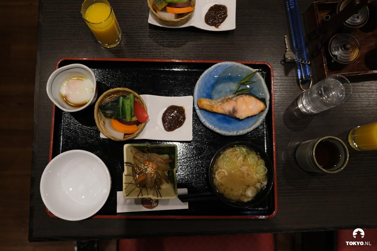 Japans ontbijt in een hotel