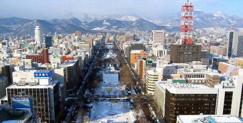 Sapporo de hoofdstad van Hokkaido