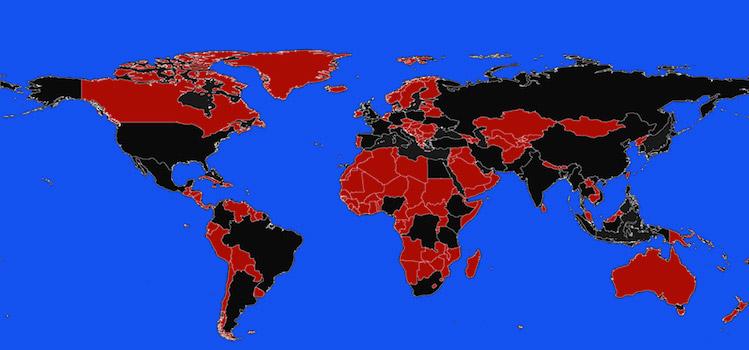 Populatie wereldkaart