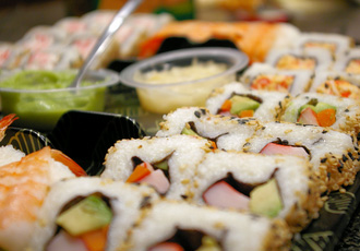 Sushi en lokale cuisine eten Tokyo