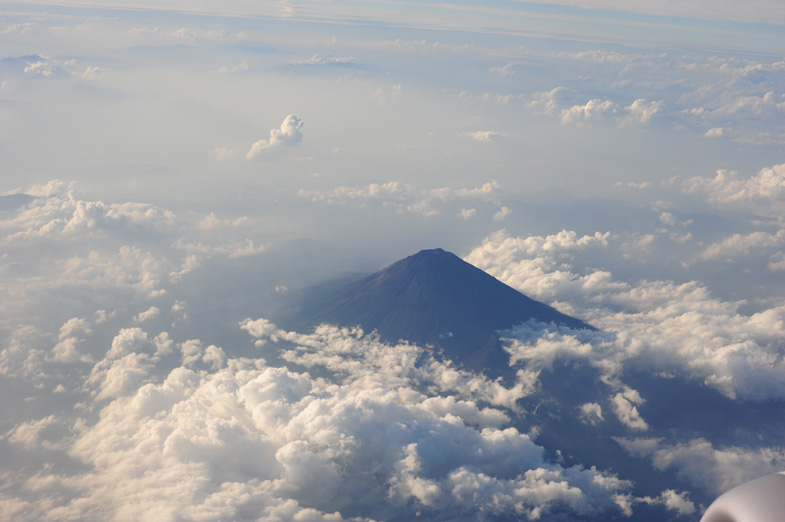 Berg Fuji Japan vliegtuig