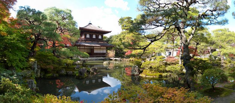 Ginkaku-ji tempel in de zomer