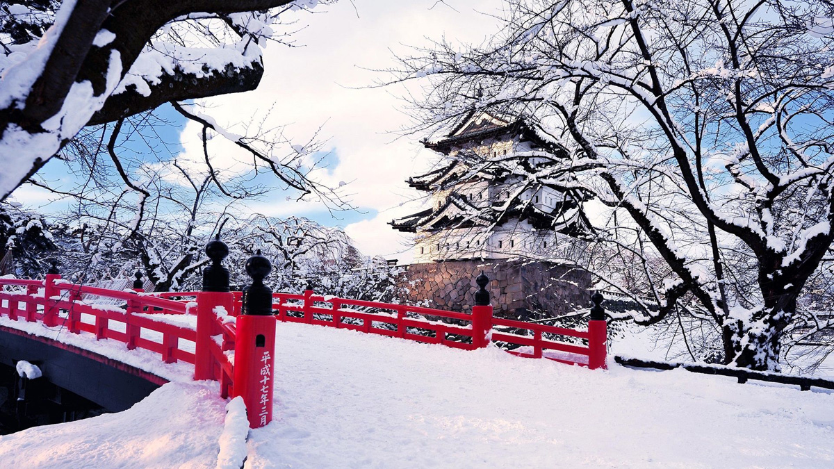 Op Wintersport in Japan