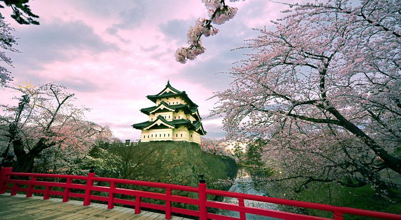 Hirosaki Kasteel Japan