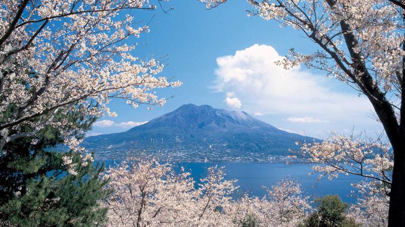 Kagoshima Sakurajima vulkaan
