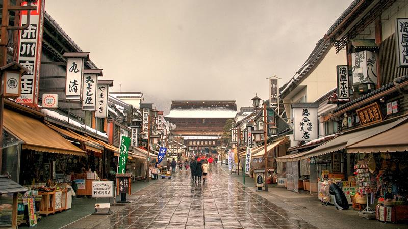 Nagano straatbeeld