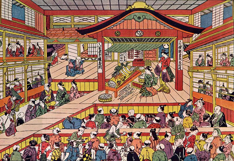Shibai Ukie Masanobu Okumara Japanse prent