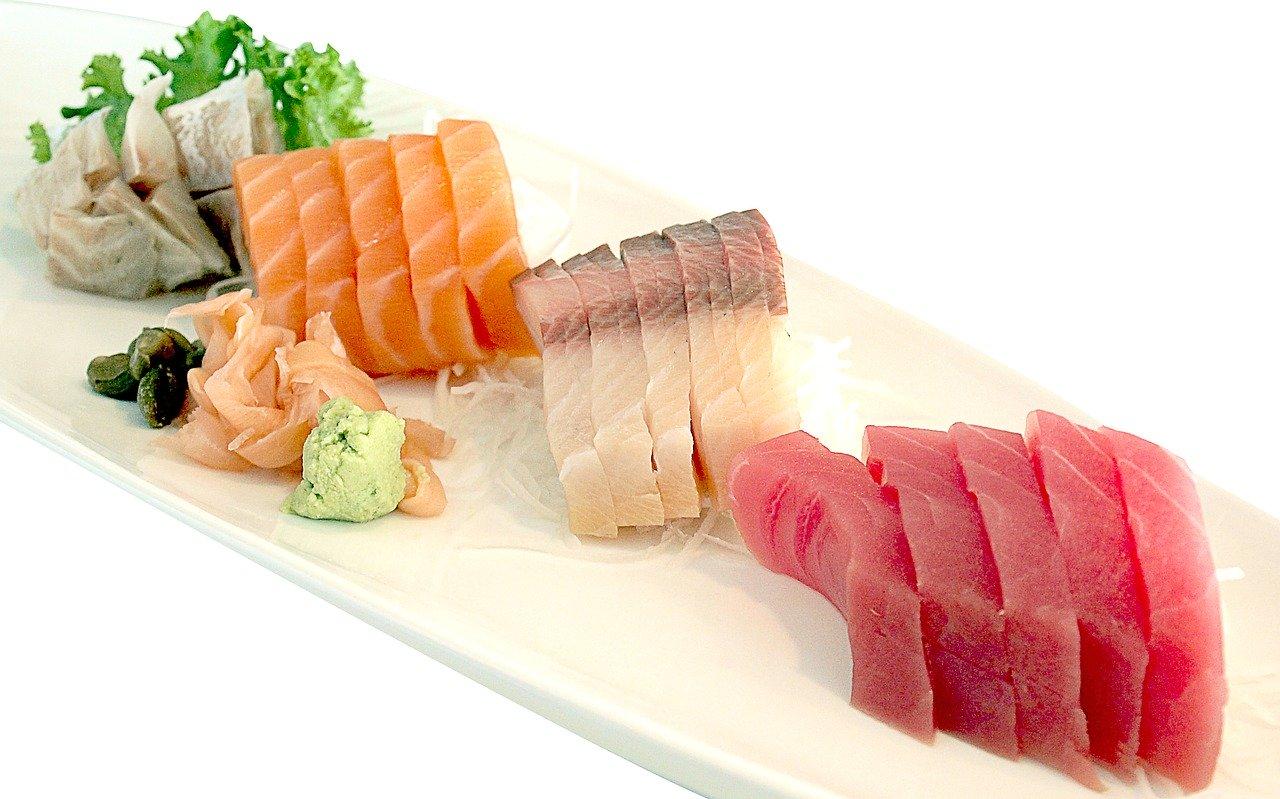 Sashimi van rauwe vis