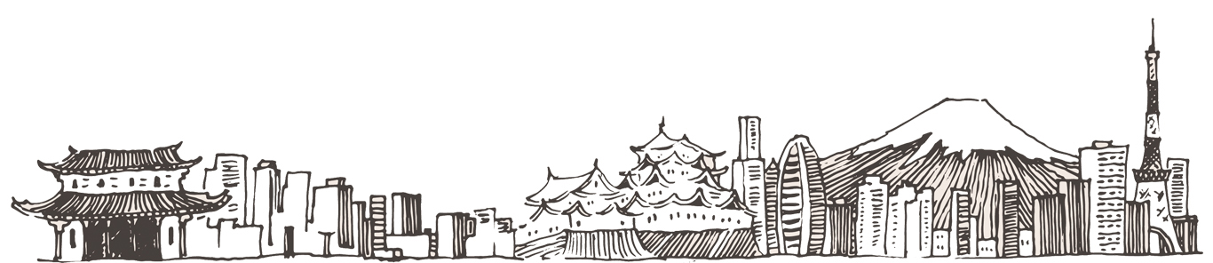 Tokyo Skyline schets
