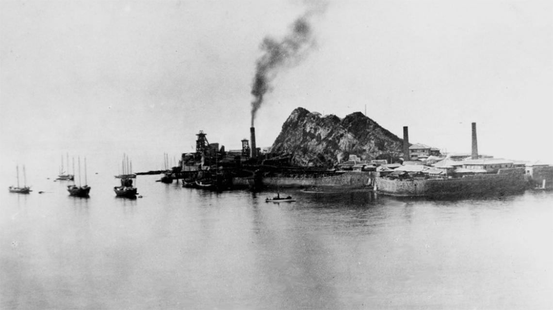 Hashima eiland geschiedenis
