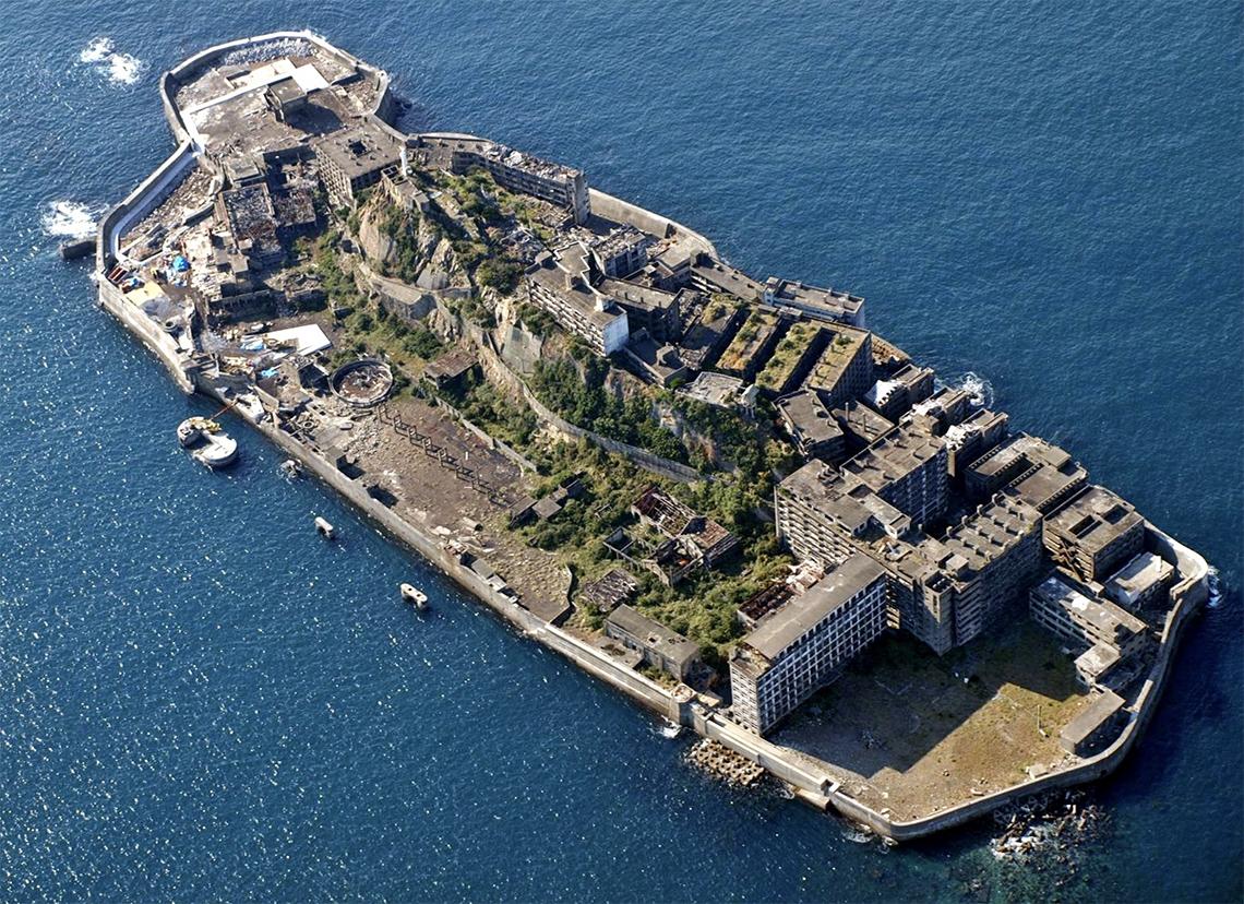 Hashima (Gunkanjima) eiland Japan