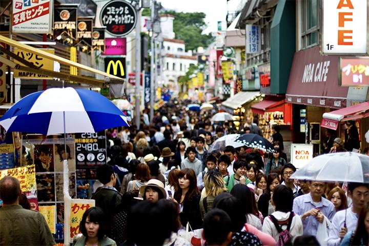 Takeshita Dori toeristenval