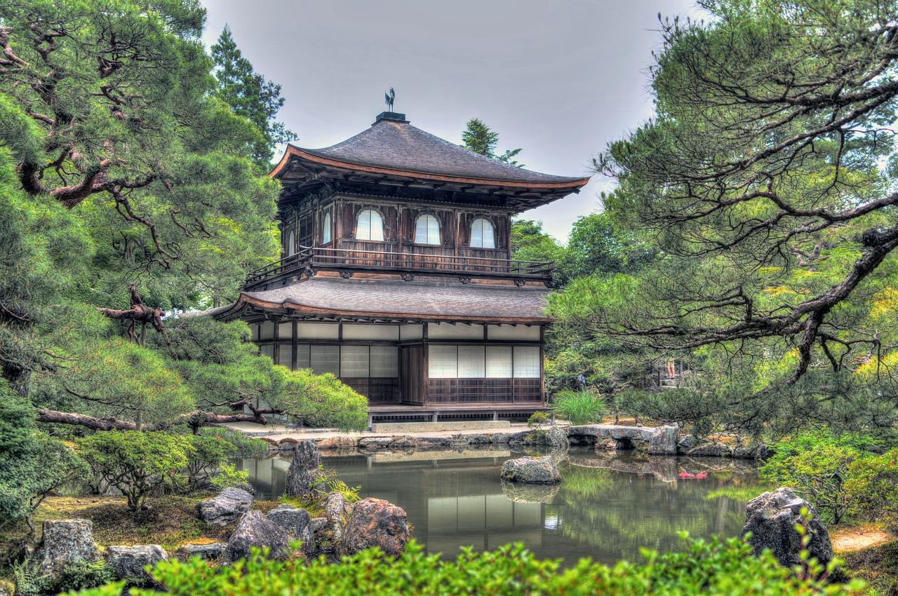 Ginkaku Ji tempel in Kyoto Honshu