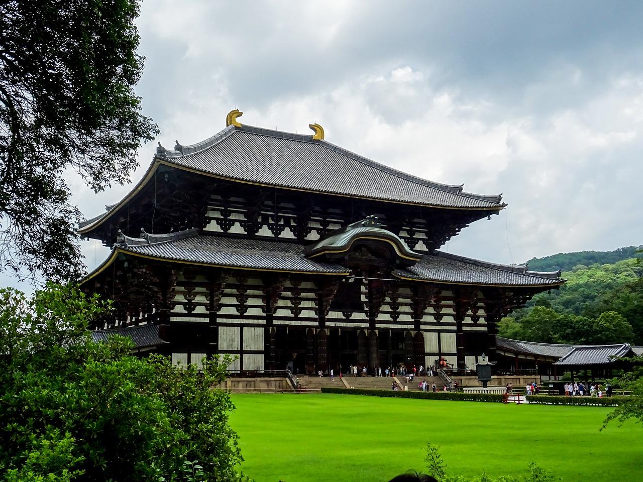 Todai Ji temple in Nara op Honshu