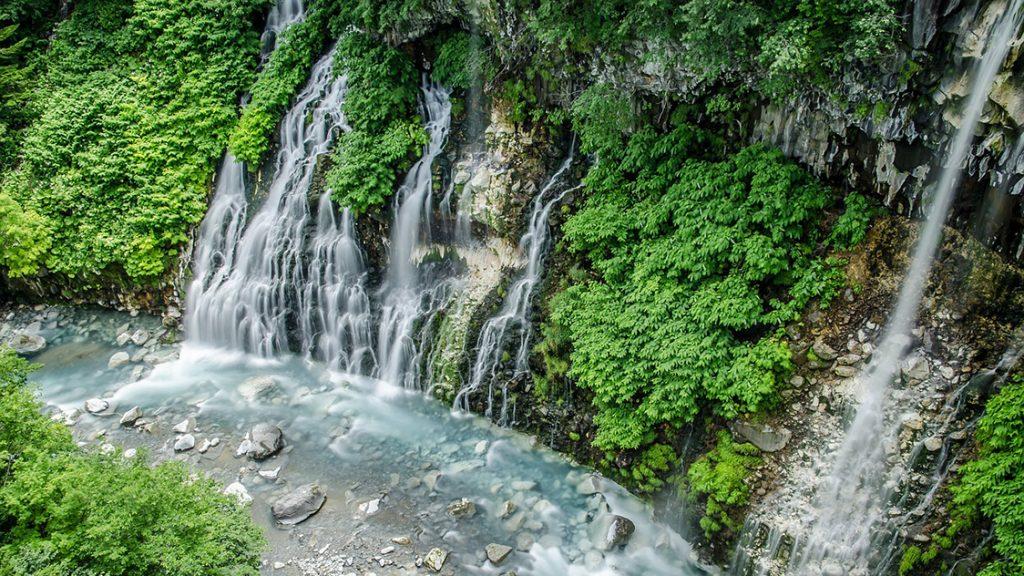 Watervallen Hokkaido Japan