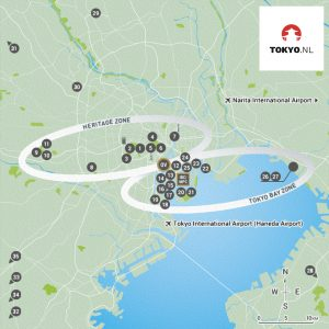 Olympische wedstrijdlocaties Tokyo