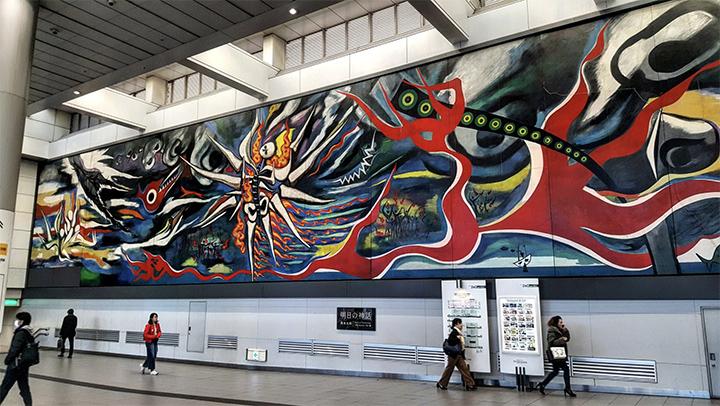 Shibuya station kunstwerk