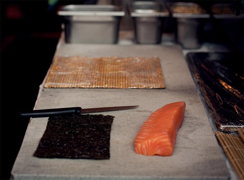 Sushi set voor keuken