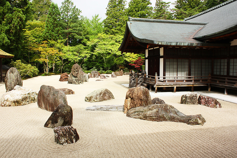 Kongobuji tempel rotstuin Koyasan