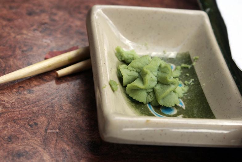 Wasabi bij het eten