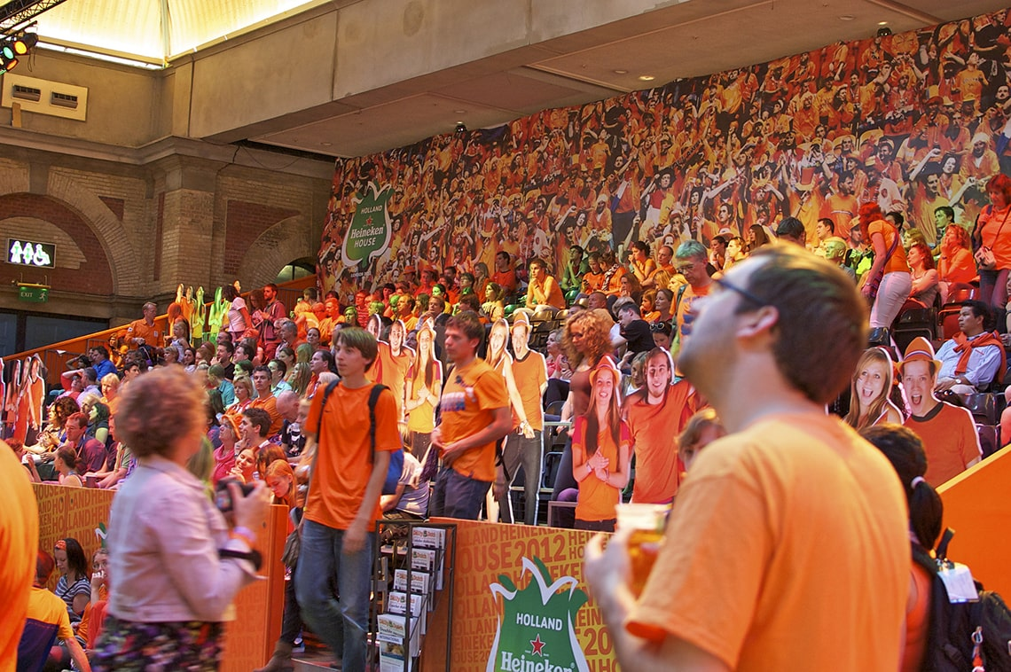Fans in Holland Heineken House