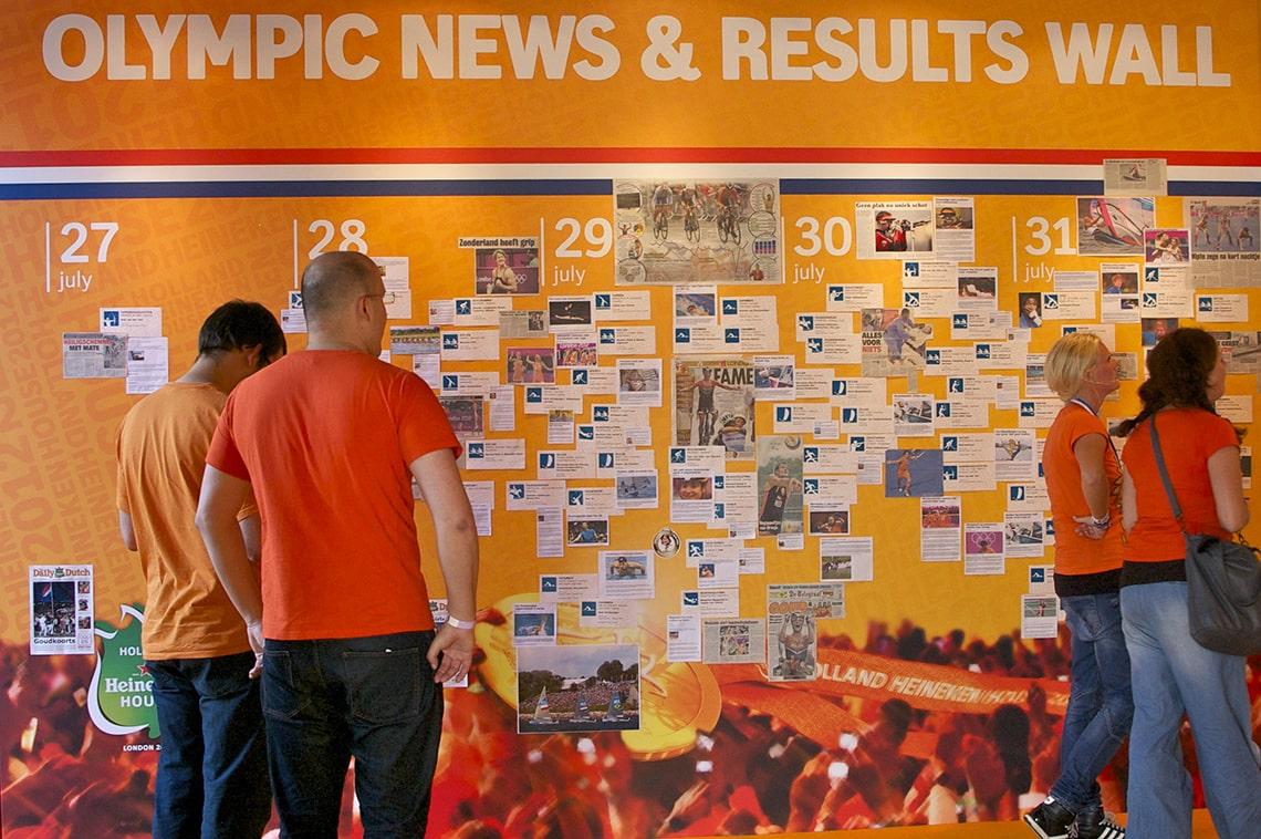 Holland Heineken House resultaten Olympische Sporters