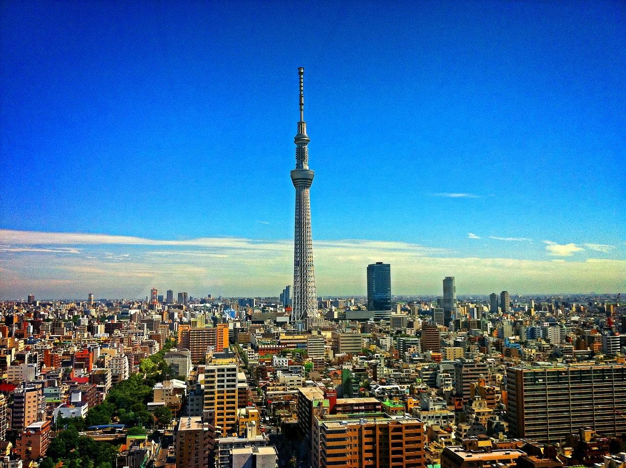 Skyline van Tokyo met Skytree