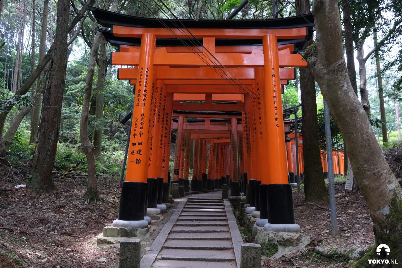 Fushimi Inari tempelgebied in Kyoto