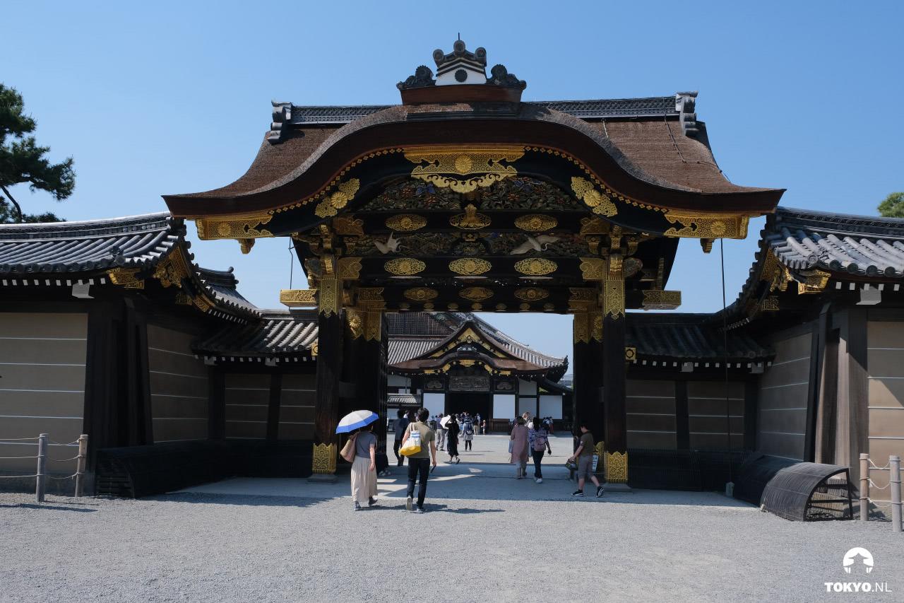 Ingang Nijo kasteel in Kyoto