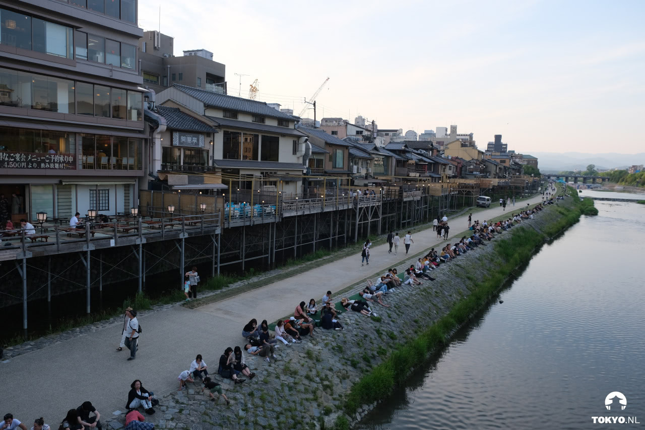 Pontocho alley Kyoto in overdag