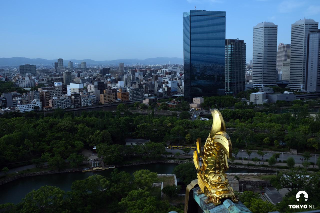 Uitzicht vanaf Osaka castle