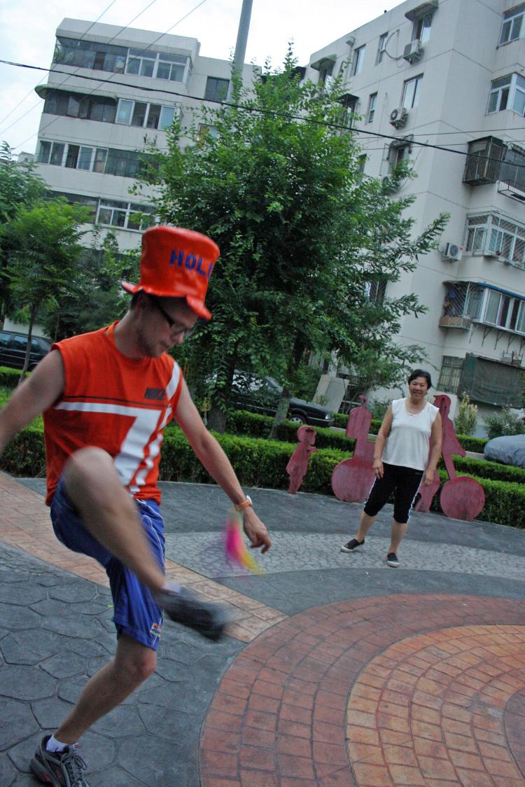 Voetie met Chinezen OS2008