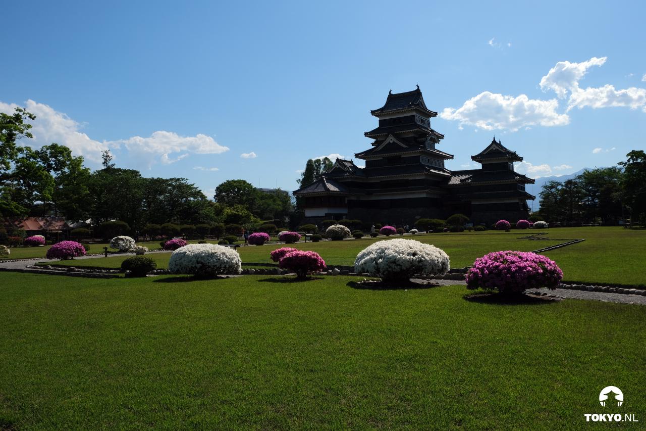 Japanse tuin van het Matsumoto kasteel
