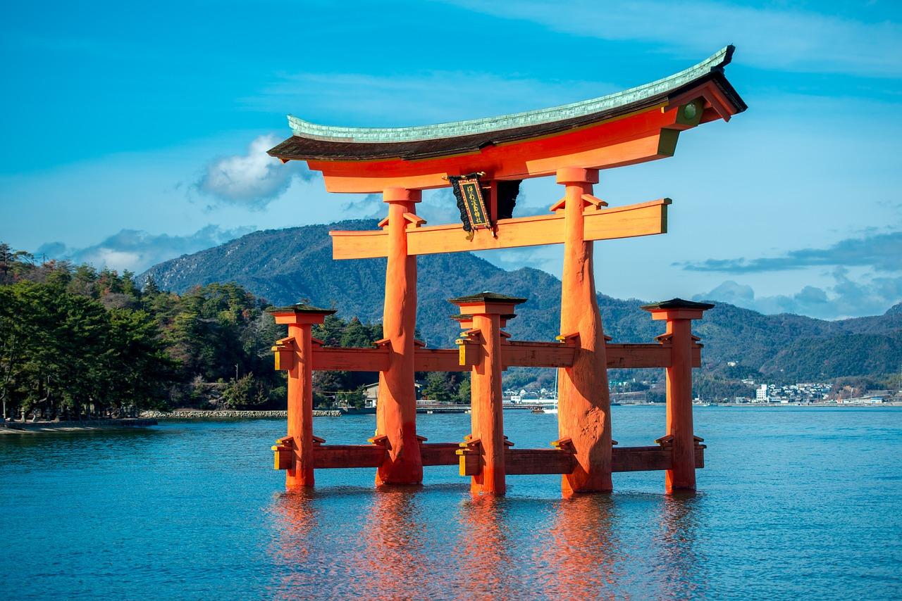 Miyajima Itsukushima schrijn torri