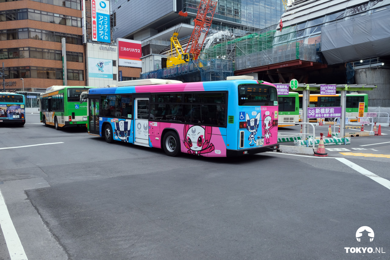 Olympische Spelen bussen Tokyo