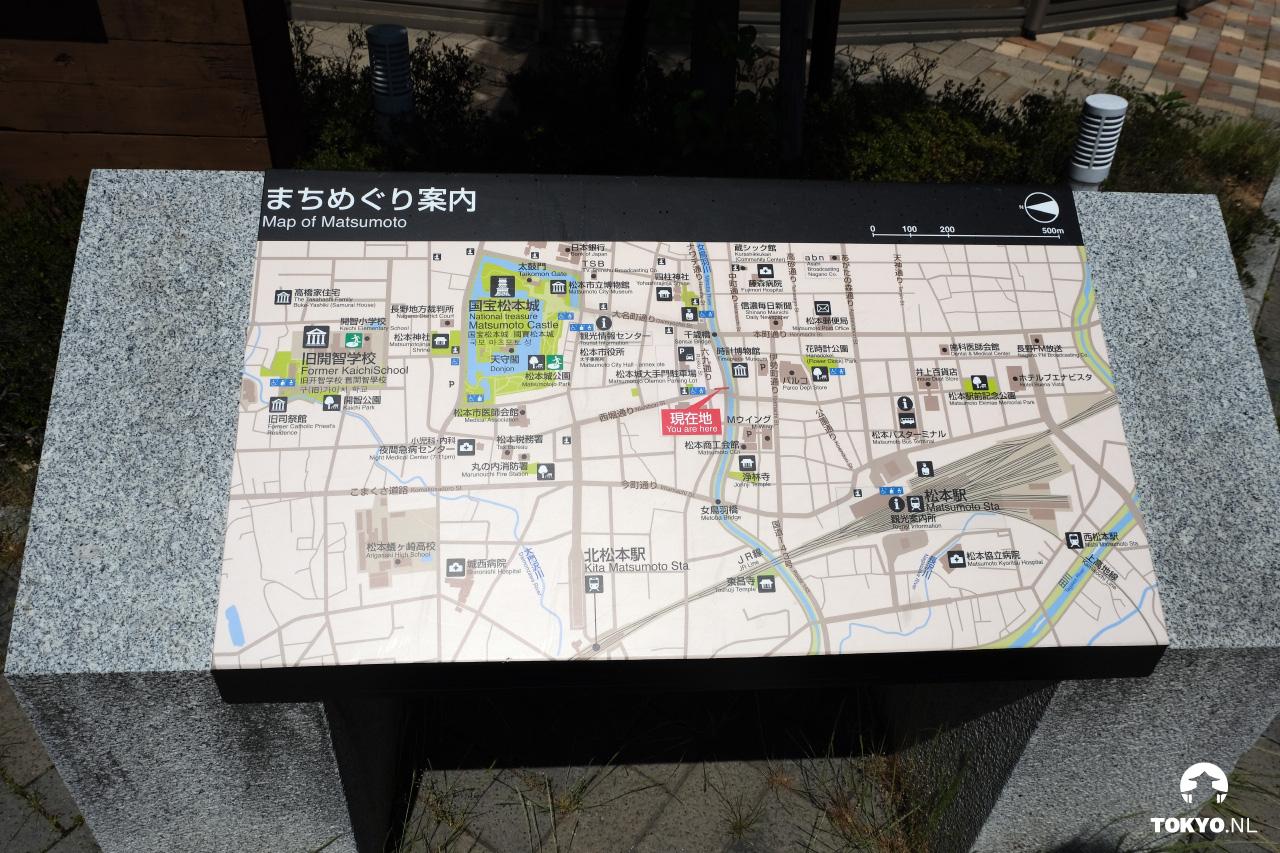 Plattegrond van Matsumoto
