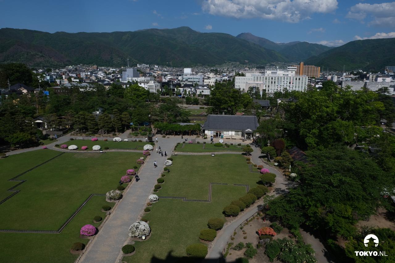 Uitzicht vanaf Matsumoto Kasteel