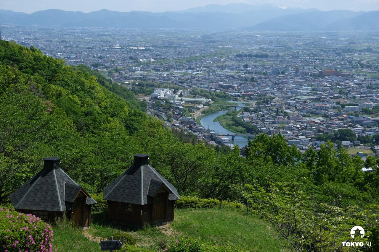 Uitzicht vanaf Japans Alpenpark Matsumoto