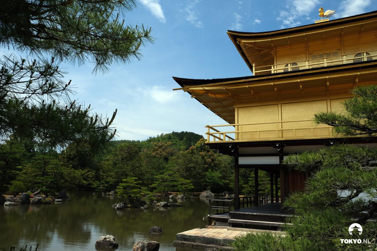 3 verdiepingen van de Kinkakuji tempel