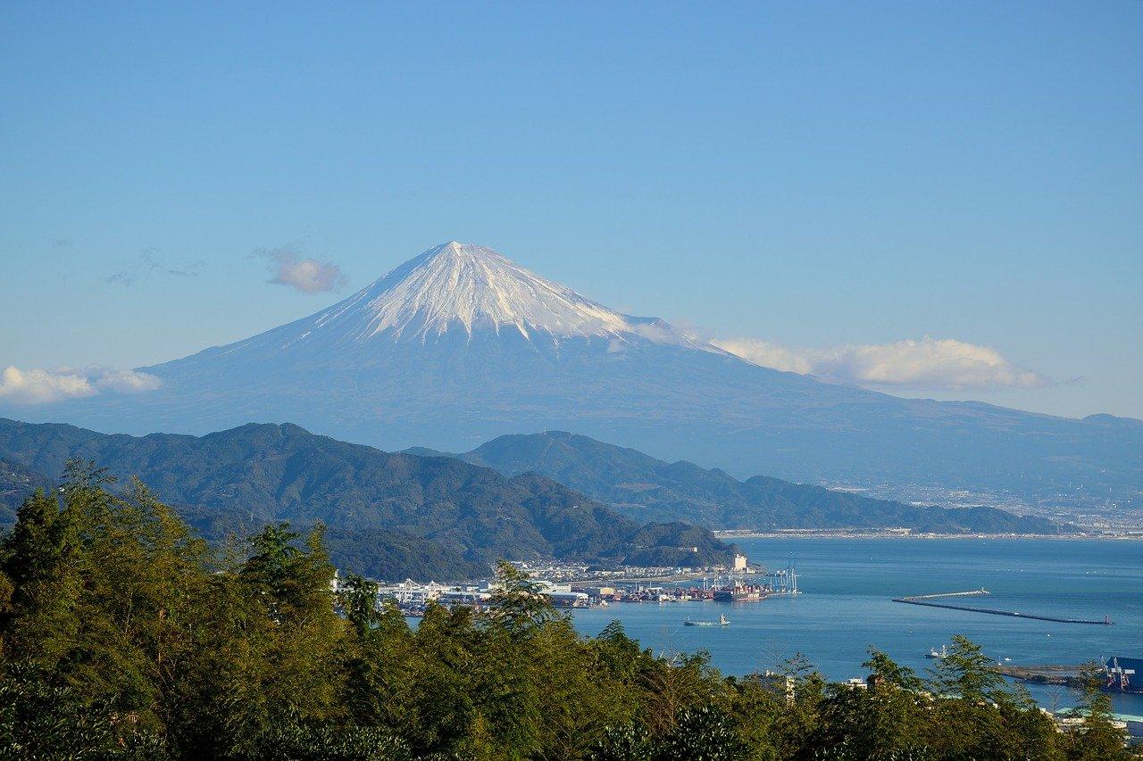 Mount fuji in de zomer