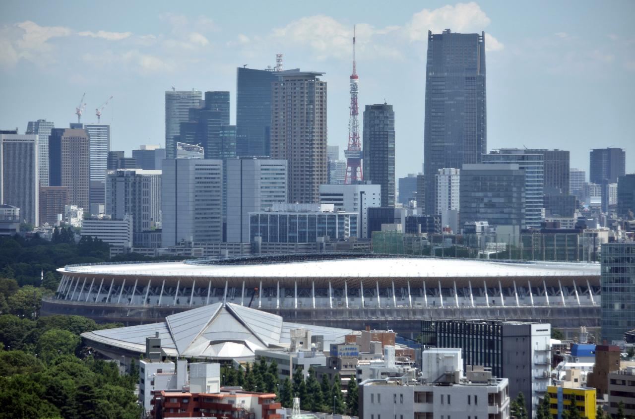 Nieuwe Olympische Stadion in aanbouw Tokyo